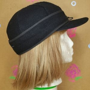 Stormy Kromer The Original Black Wool Cap Size 7.5
